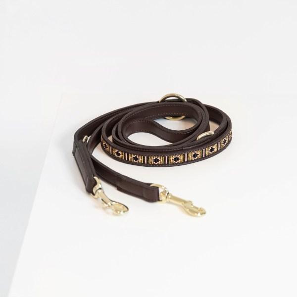Laisse chien Kentucky Dogwear Perles Azteque Gold Horsewear