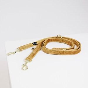 Laisse Chien Velvet 200cm Moutarde Kentucky Dogwear