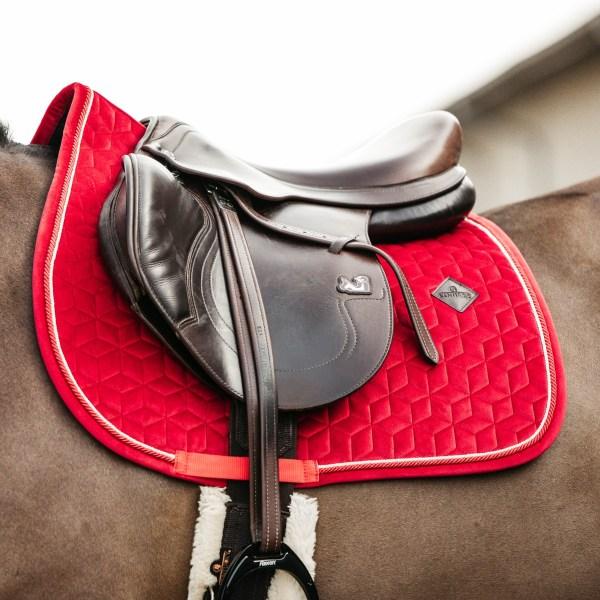 Kentucky Horsewear Tapis Velvet Jumping Rouge En Cadence
