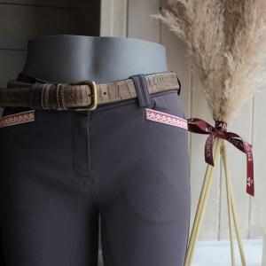 Equial Pantalon Nuance Gris Foncé En Cadence