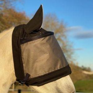 Sellerie En Cadence Montfort l'Amaury Equidiva Masque Anti-Mouches Premium Avec oreilles Noir
