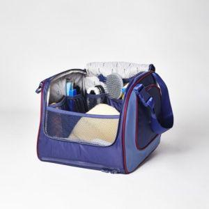 Sellerie En Cadence Montfort L'Amaury Hexa Sac de pansage Vanity Case Bleu Marine