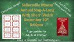December 20th Christmas Sing-A-Long 8PM