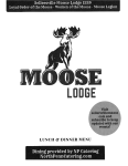 New Kitchen Menu – Eat In or Take Out – Pick Up – Call 267-404-7070 For Lodge Members