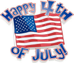 We will be open 4th of July from 11 AM to 5 PM