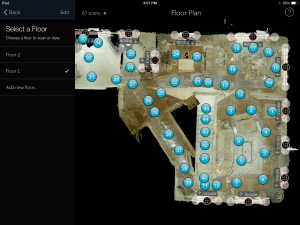 The Matteport iPad App Screen Shot