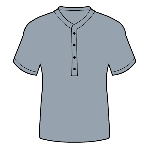 Types of T-shirts -Henley collar t-shirt
