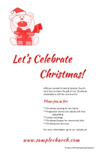 Christmas Booklet Cover or Half size Postcards #3