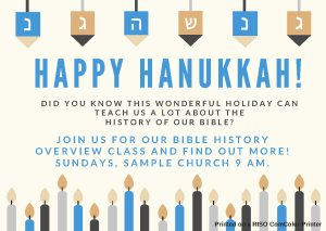 Hanukuh and Church History Flyer