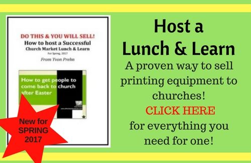 LUNCH & LEARN --proven Sales event!