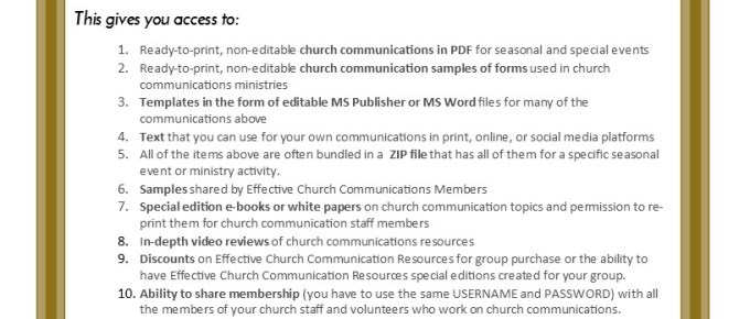 Effective Church Com Gift Membership