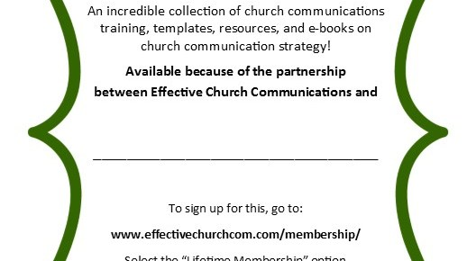 Dealer Coupon for Churches for ECC Yearly Membershp
