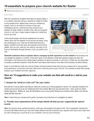 PDF to Share with Churches on Website success