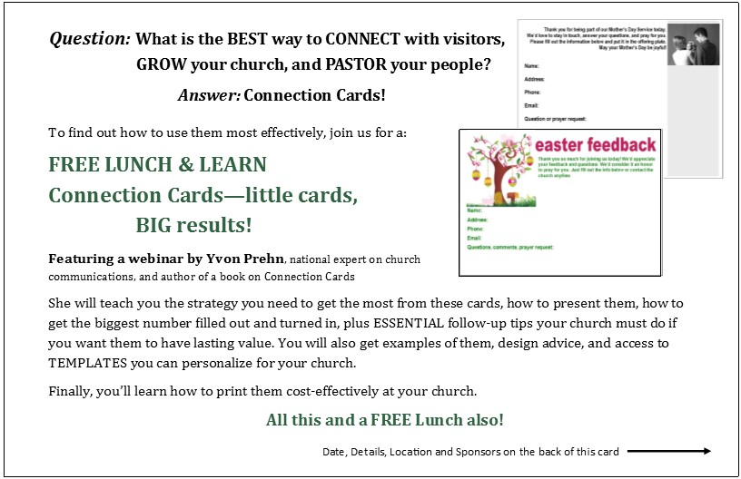 Timeless Lunch and Learn on CONNECTION CARDS