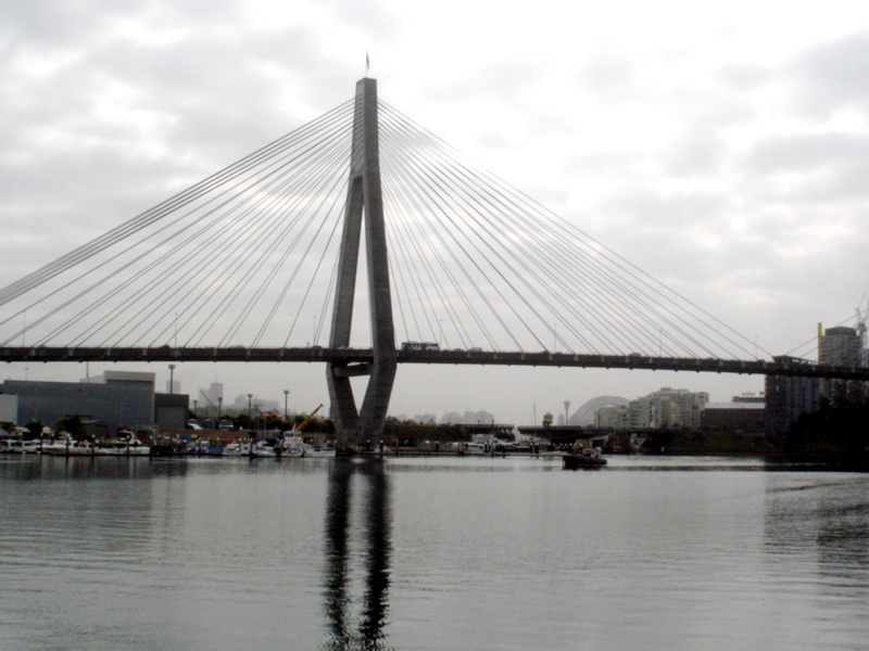 Anzac Bridge on Cloudy Day