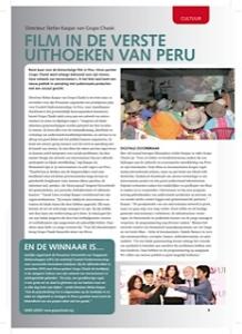 Foto van het artikel 'Film in de verste uithoeken van Peru' in Hivos magazine.