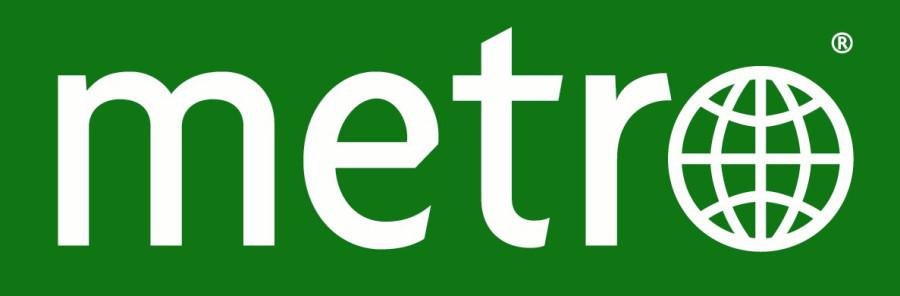 Logo van het dagblad Metro.