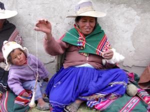 Foto van hooglandindianen in Bolivia.