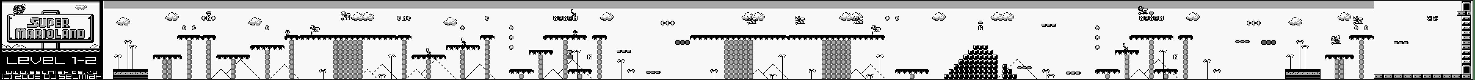 Super Mario Land Level 1 2 Map Walkthrough Gameboy Gb