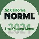 California Norml Legal Committee Member Badge 2021