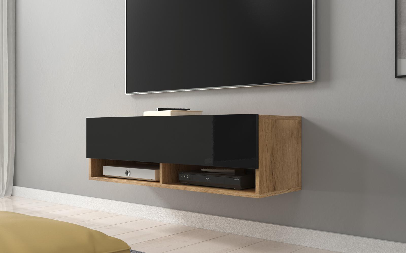 wander meuble tv suspendu 100 cm selsey