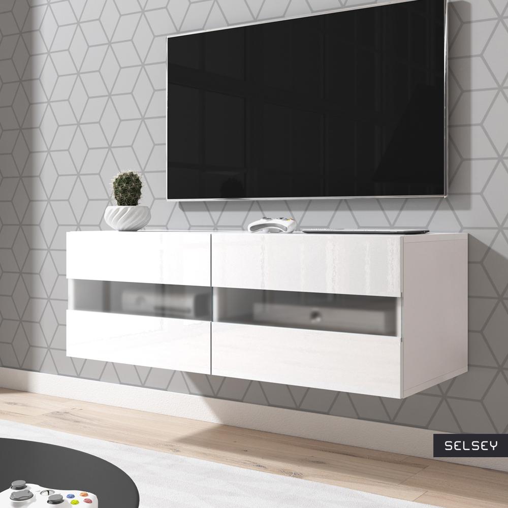 brico meuble tv suspendu avec led 100