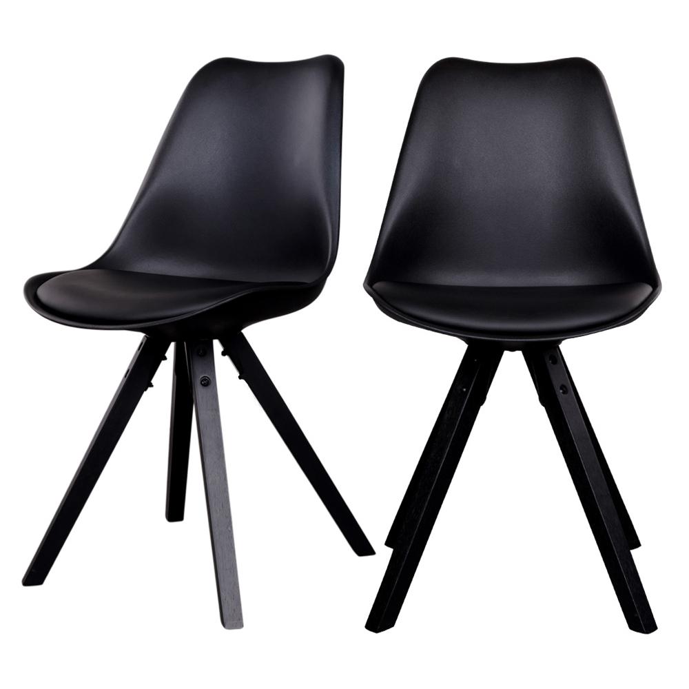 chaises scandinaves noires pieds noirs