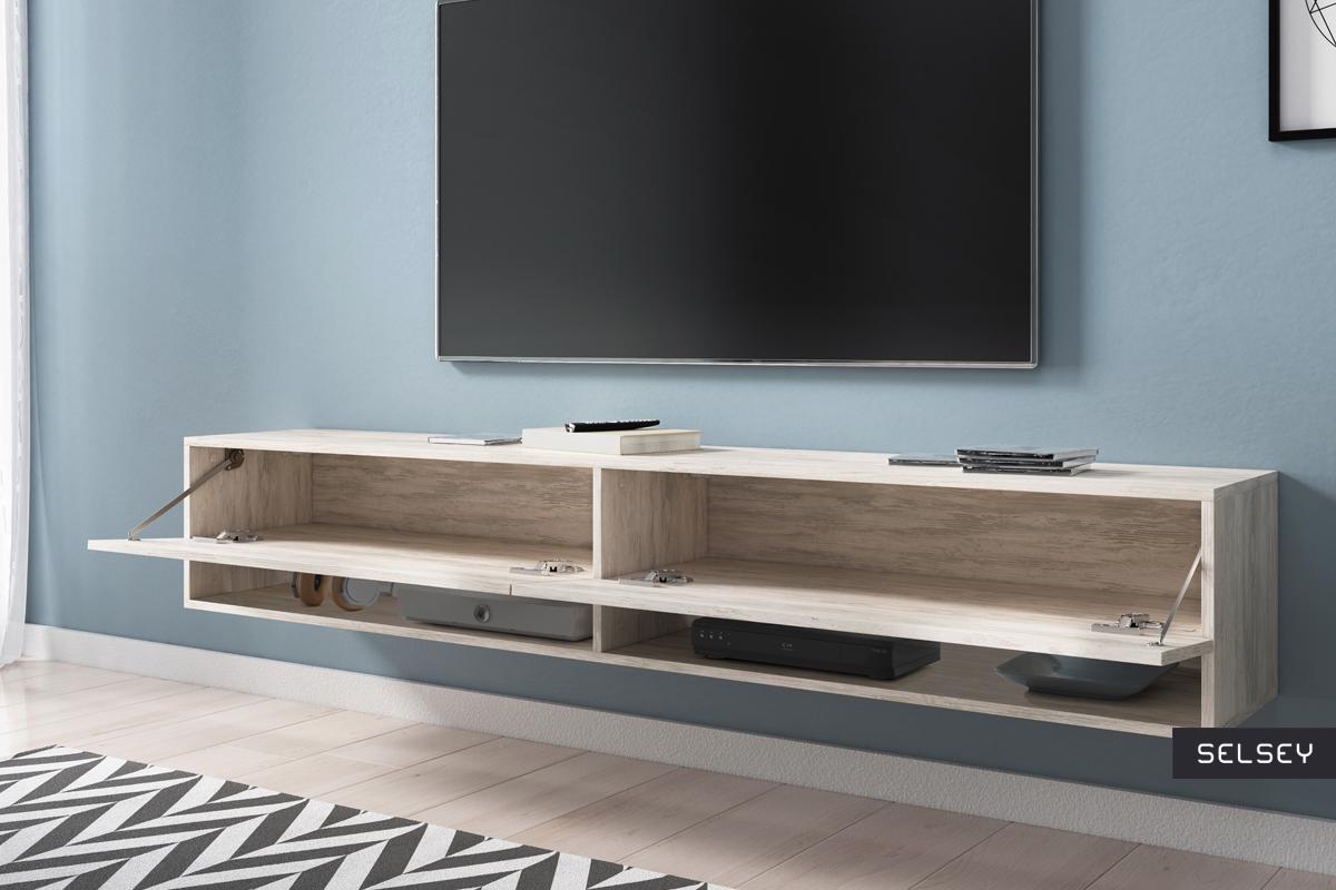 wander meuble tv suspendu 180 cm selsey