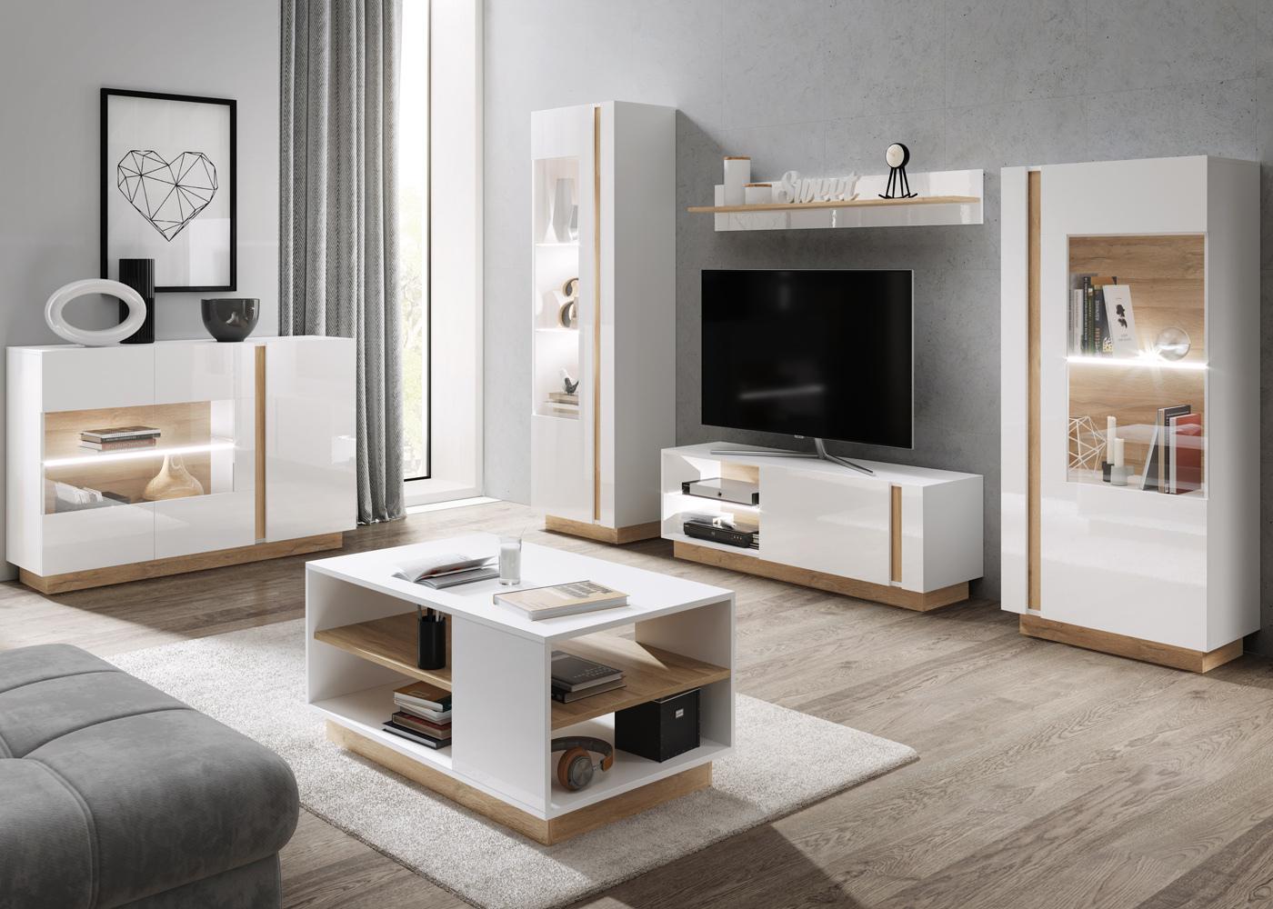 skoky 4 piece living room furniture set white oak