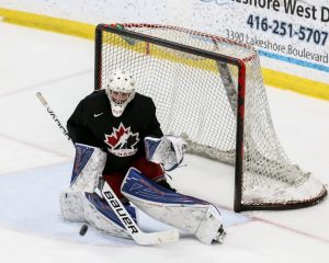 Jett Alexander playing for Canada East in the 2017 World Junior A Challenge