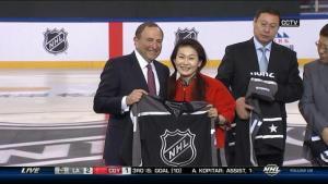 Gary Bettman at the 2017 NHL China Games