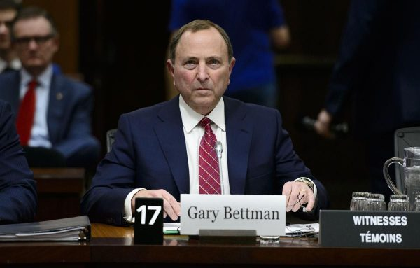 NHL Commissioner Gary Bettman during his testimony before Canadian Parliament