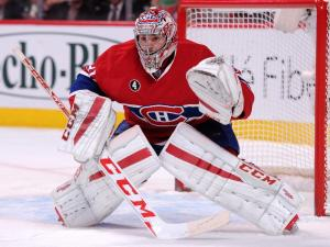 Montreal Canadiens goaltender Carey Price keeping his shoulders parallel and level with each other