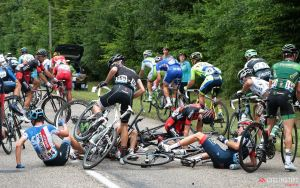 Cyclists are prone to crashes and pileups during races, which can lead to head injuries