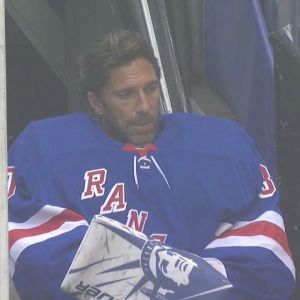 Henrik Lundqvist sat on the bench as he watched what could have been his last game as a New York Ranger