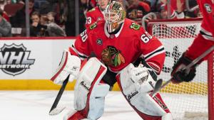 Collin Delia signed a two-year extension with the Blackhawks, worth $1-million AAV