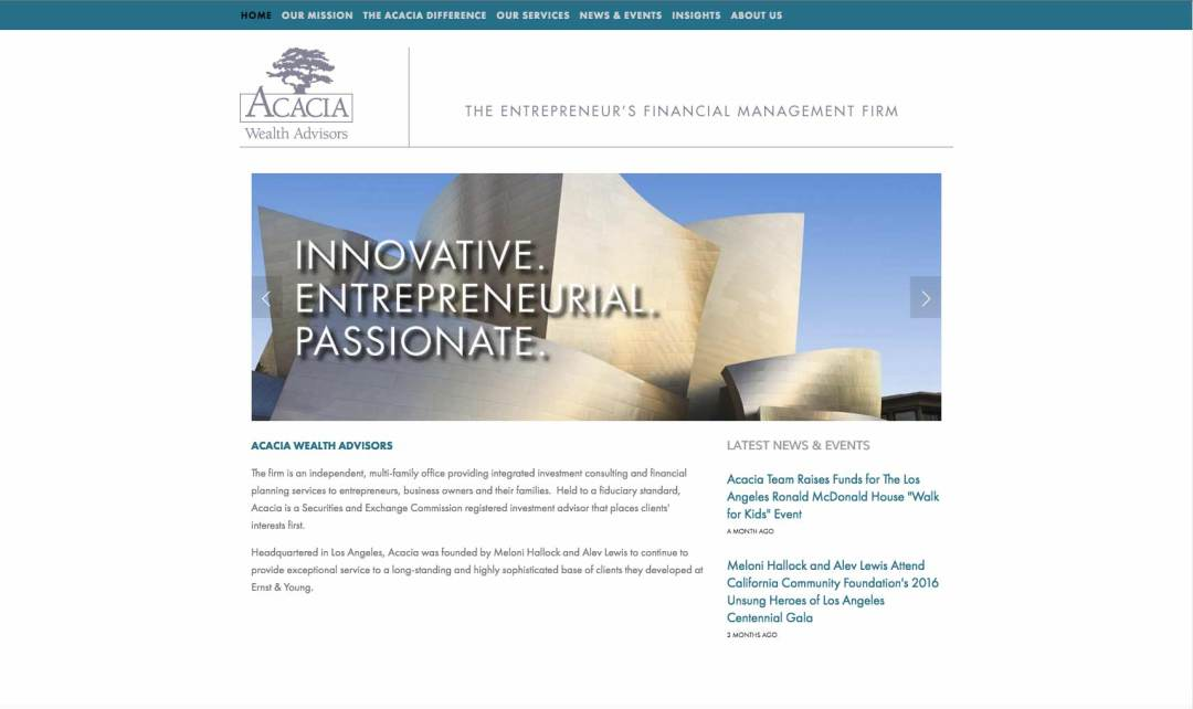 ACACIA Homepage