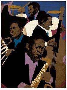 John Coltrane Quartet Illustration