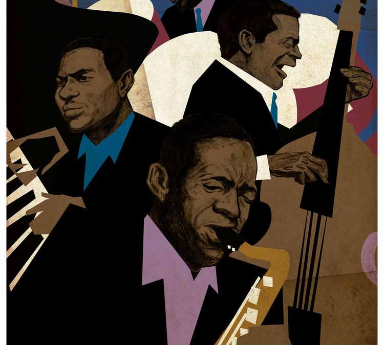 John Coltrane Quartet Illustration