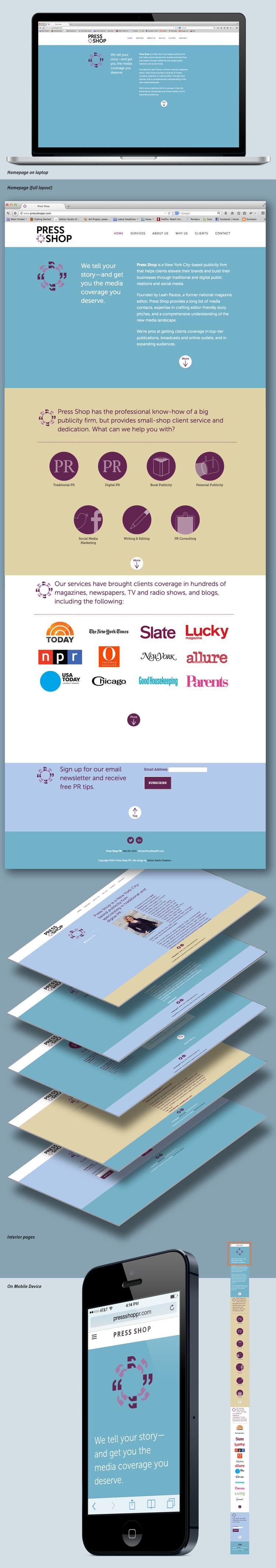 Press Shop homepage