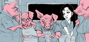 Swine Flu hits NYC Illustration