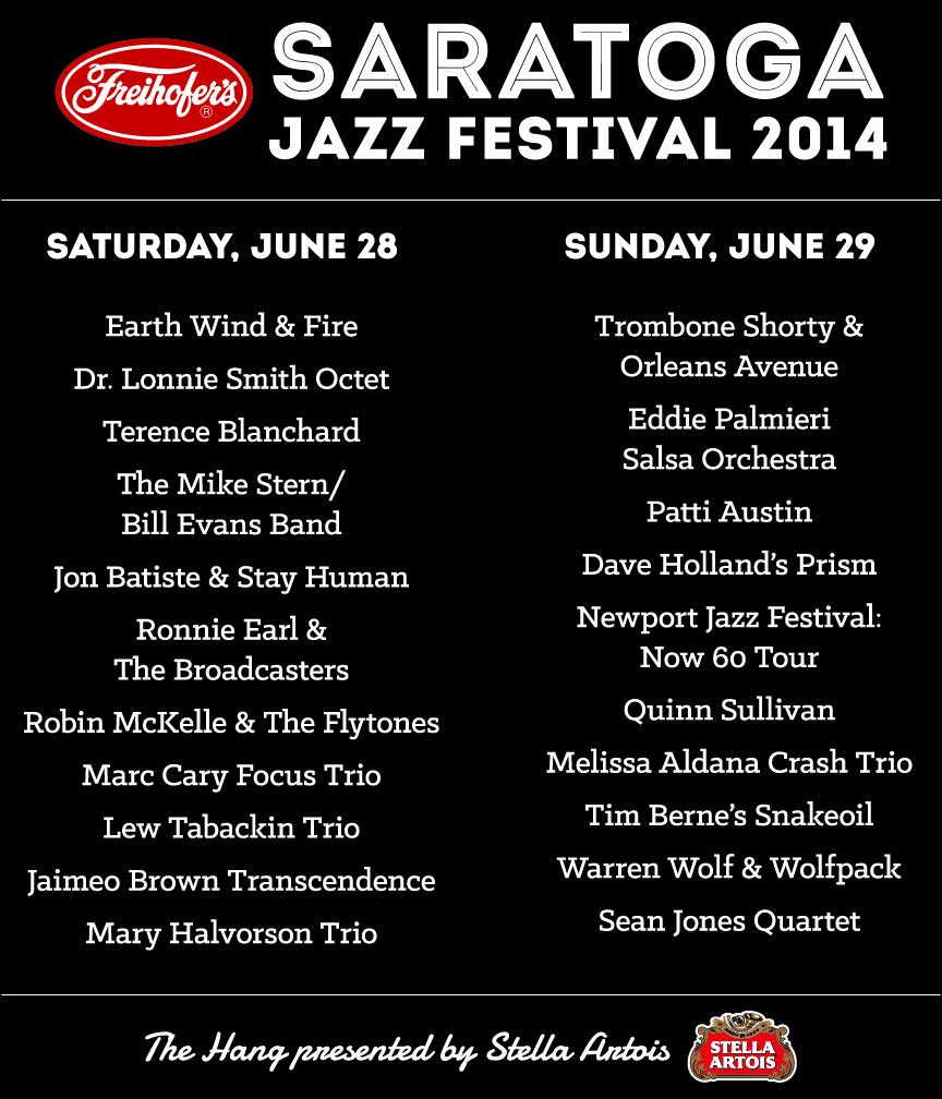 Saratoga Jazz Festival Back T-Shirt
