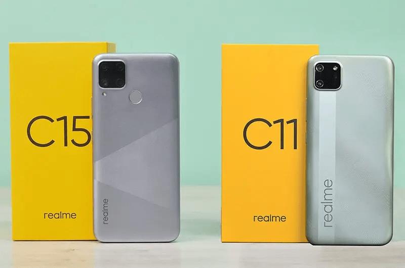 perbedaan realme C11 dan C15