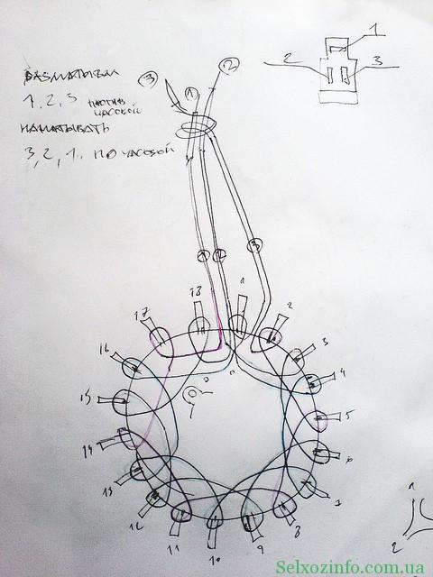 схема перемотки статора своими руками