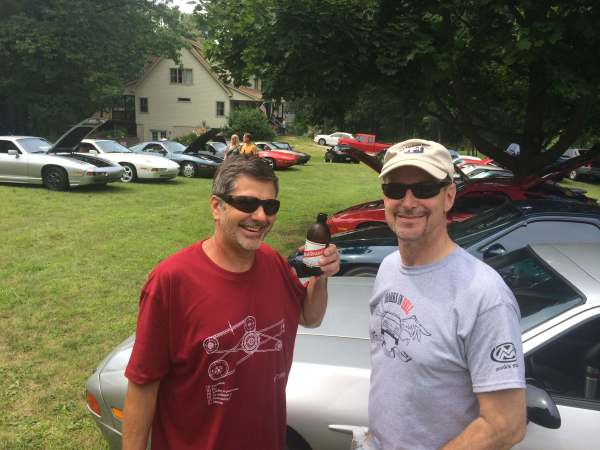 Mark Haddlesey, our host, (left) and Dave Kowalersky (right)