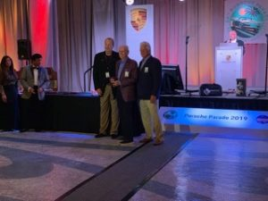 Michael receiving his Concours award at the evening banquet