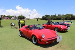 Speedster displayed on the Concours judging field