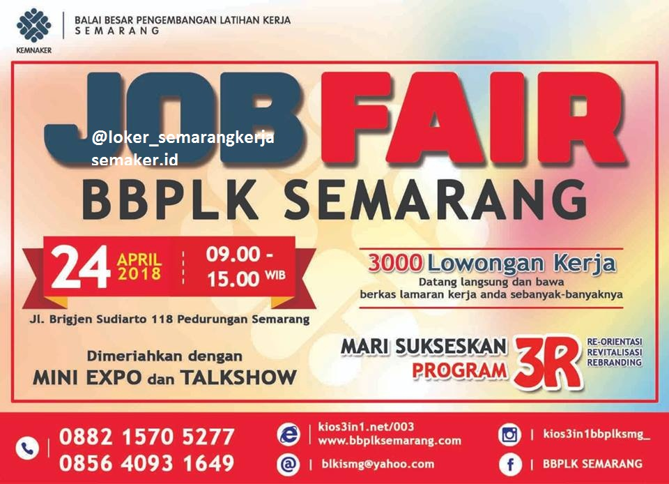 Job Fair BBPLK Semarang 24 April 2018