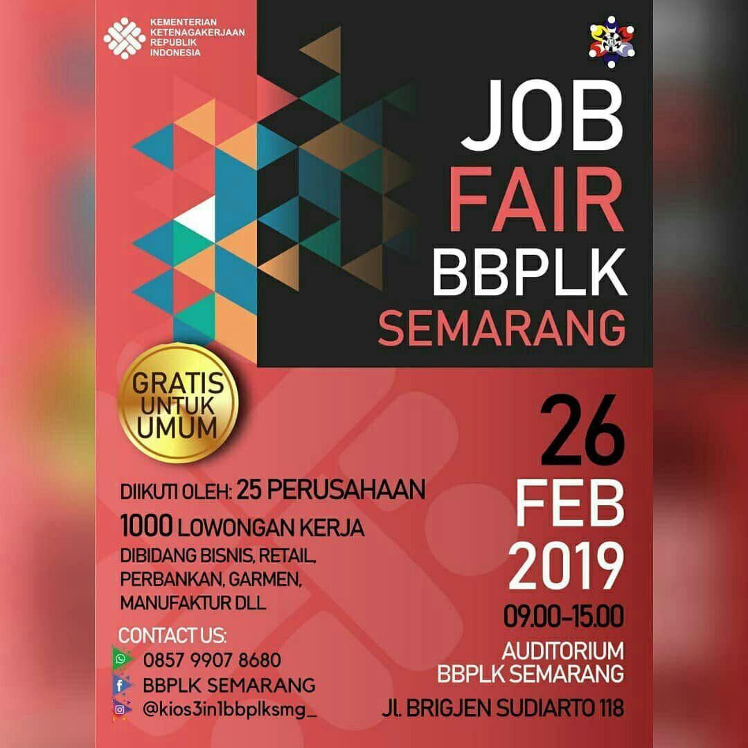 JOB FAIR BBPLK SEMARANG 26 Februari 2019