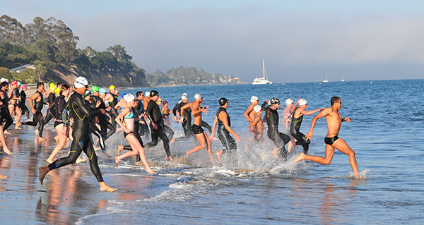 Santa Barbara's Semana Nautica Sports Festival offers a concentration of several ocean swimming races each year.
